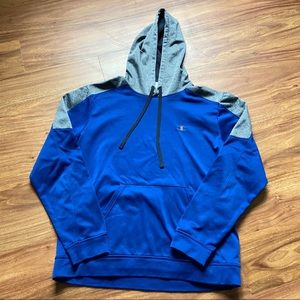 Vintage royal blue and gray champion hoodie